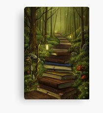 The Reader's Path Canvas Print