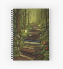 The Reader's Path Spiral Notebook