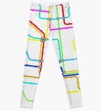 London Tube Underground Leggings