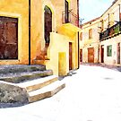 View street in the historic center of Tortora by Giuseppe Cocco