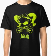 Jassy JJ's One Girl Band - GREEN SKULL by Mien Wayne Classic T-Shirt