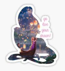 Go live your dream - Rapunzel Sticker
