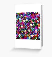 crystal balls mix color transparent Greeting Card