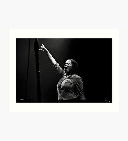 "Makeisha ""Keysha"" McTaggart of Steel Pulse 2016 Tour Art Print"