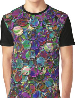 crystal balls mix color transparent Graphic T-Shirt