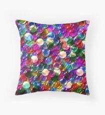crystal balls mix color transparent Throw Pillow
