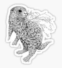 Leaf Otter Sticker