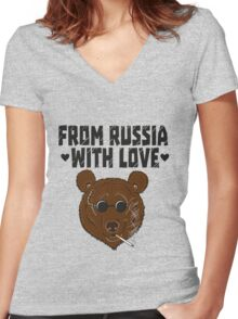 From Russia with LOVE Women's Fitted V-Neck T-Shirt