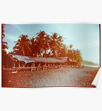 Carribean Beach With Palm Trees Shot on Film Poster