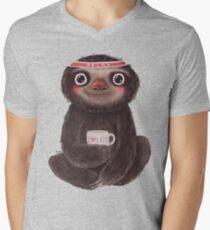 Sloth I♥lazy Men's V-Neck T-Shirt