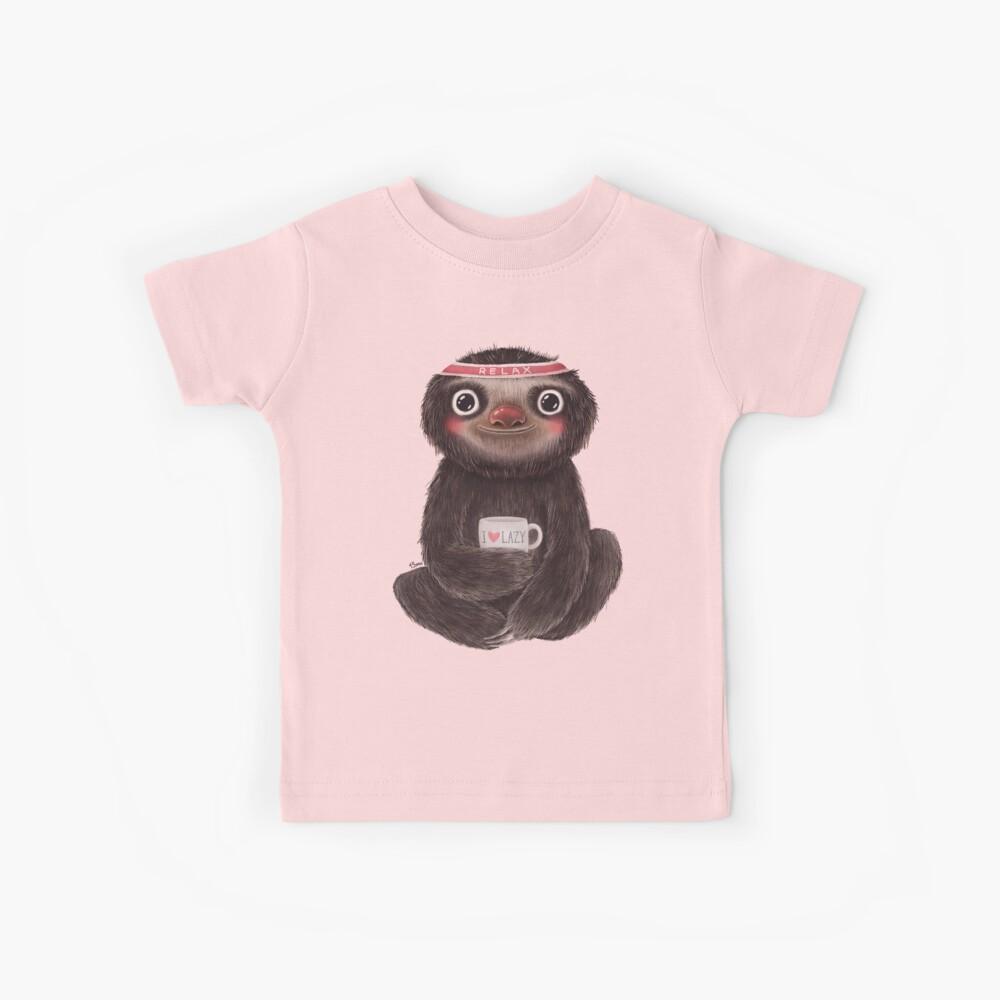 Sloth I♥lazy Kids T-Shirt