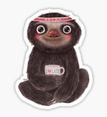 Sloth I♥lazy Sticker