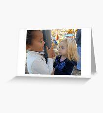 Children on the Playground Greeting Card