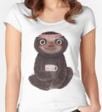 Sloth I♥yoga Women's Fitted Scoop T-Shirt