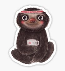 Sloth I♥yoga Sticker