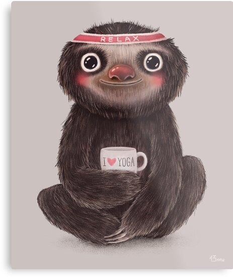 Sloth I♥yoga by limeart