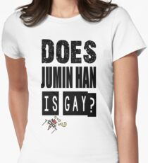 DOES JUMIN HAN IS GAY ? Mystic Messenger Womens Fitted T-Shirt