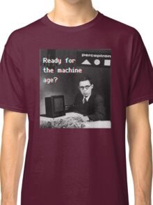 Ready for the machine learning age? (8-bit 3D) Classic T-Shirt