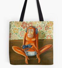 Monkey play Tote Bag
