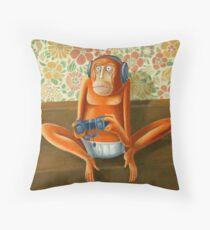 Monkey play Throw Pillow