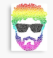 Bubble Beard Glasses Rainbow Canvas Print
