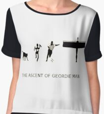 The Ascent of Geordie Man Women's Chiffon Top