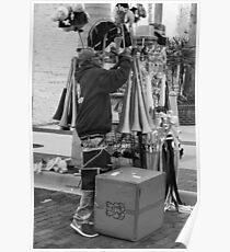 Der Straßenverkäufer Poster