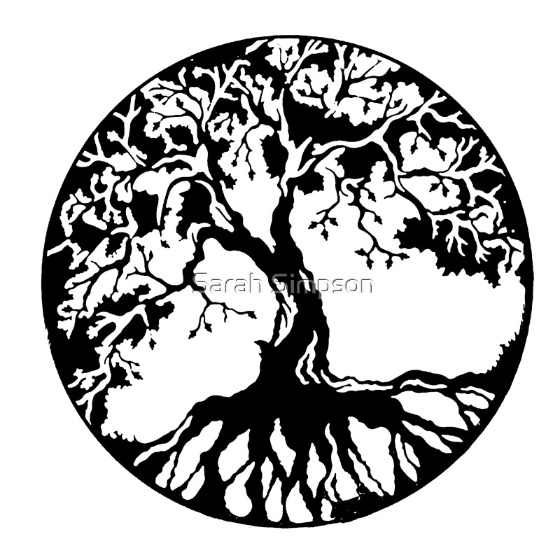 Quot Tree Of Life Black Quot By Sarah Simpson Redbubble