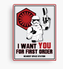 Recruitment Poster Canvas Print