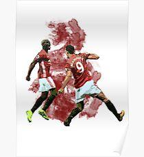Pogba und Ibrahimovic Kunst Poster