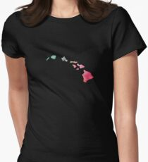 Hawaii Watercolor Women's Fitted T-Shirt