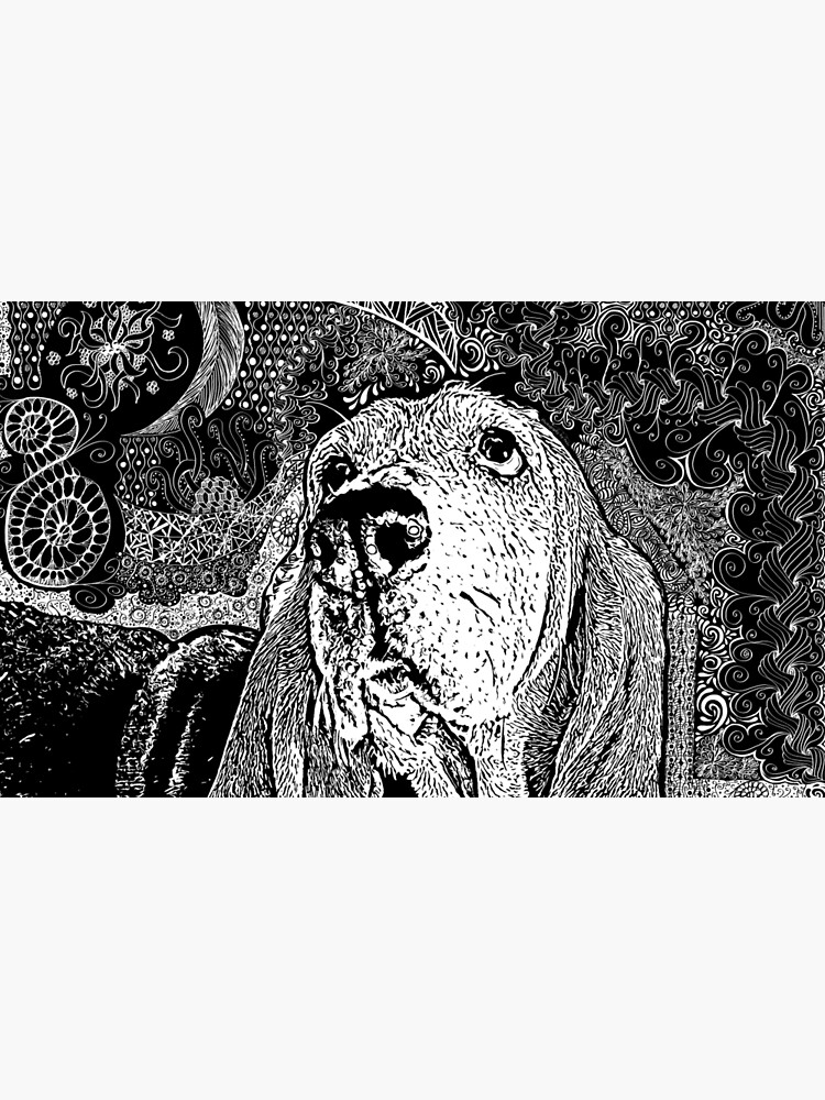 Zentangle Basset Hound by digitalartbynic