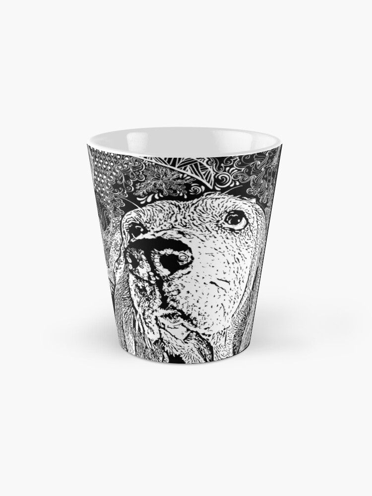 Alternate view of Zentangle Basset Hound Mug