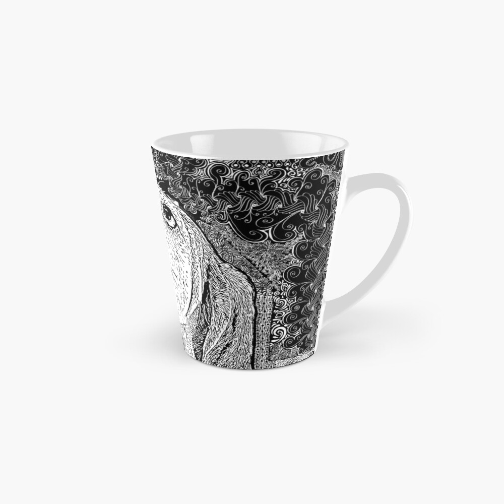 Zentangle Basset Hound Mug
