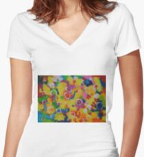 Playing With Soap Women's Fitted V-Neck T-Shirt