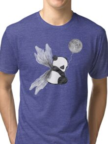 Space Angel Panda Bear Tri-blend T-Shirt