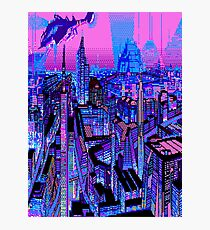 Vaporwave City Photographic Print