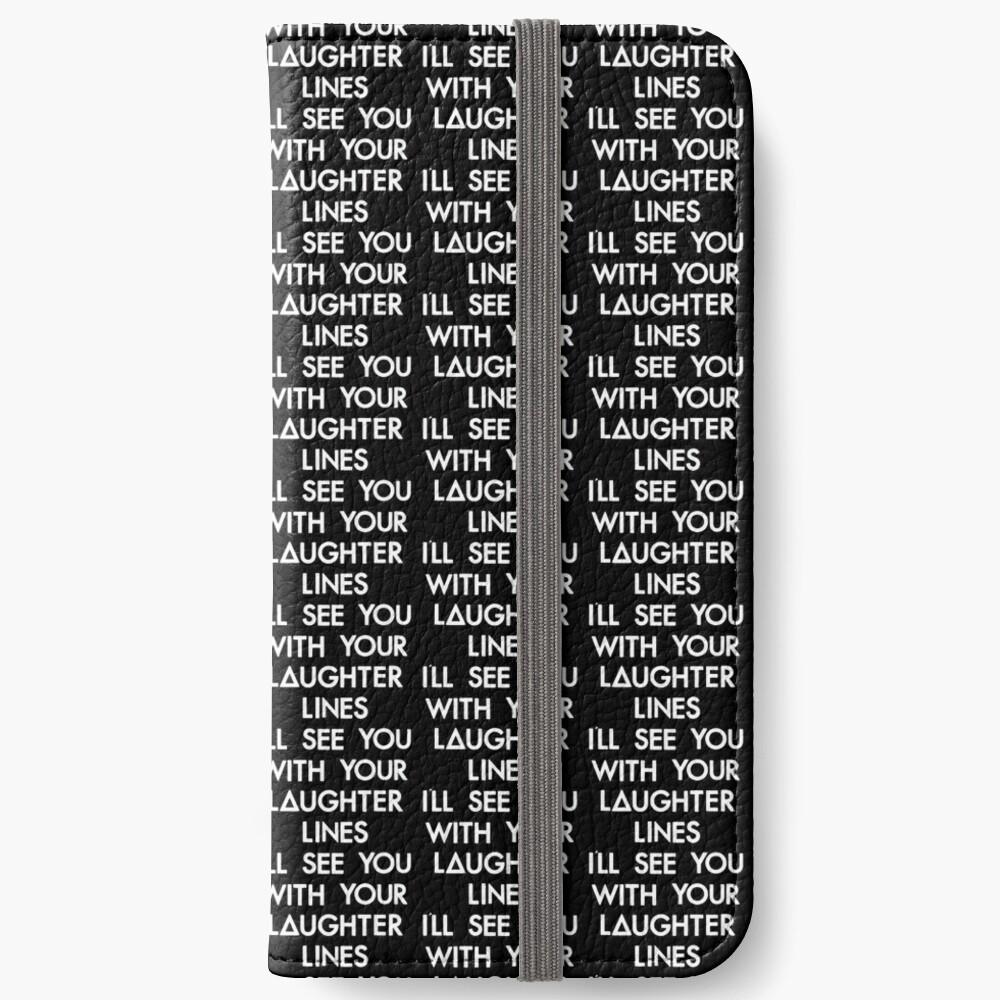 Lachfalten (weiß) iPhone Flip-Case