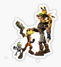 Jak and Daxter and Ratchet and Clank  Sticker