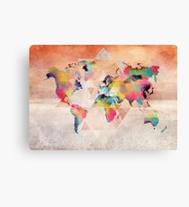 world map 33 sacred Canvas Print
