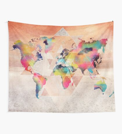 world map 33 sacred Wall Tapestry
