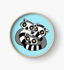 Cuddly Ring Tailed Lemurs Clock