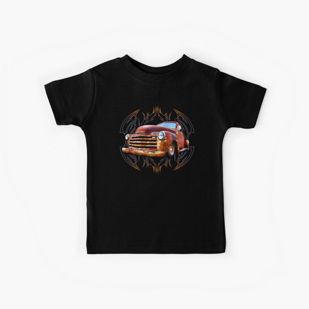 Pinstripe Rust Truck Kids T-Shirt