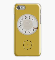 Vintage Dial Phone Yellow iPhone Case/Skin