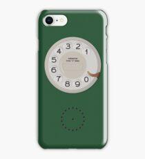 Vintage Dial Phone Green iPhone Case/Skin