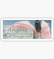 Beautiful Angel Girl With Pink Wings Sticker