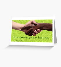 Golden Rule Greeting Card