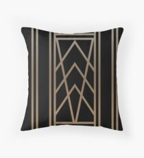 Black and Gold Art Deco Throw Pillow