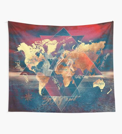 world map 34 sacred Wall Tapestry