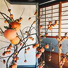 Japanese Aesthetics - Persimmon Flower Arrangement by visualspectrum